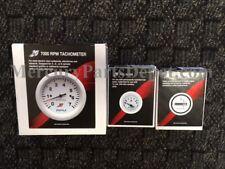 Mercury Marine Analog Gauge Set White - 7K Tachometer, fuel, hour meter
