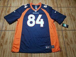 NWT Nike Shannon Sharpe Denver Broncos Football Jersey Adult XL Blue Mens