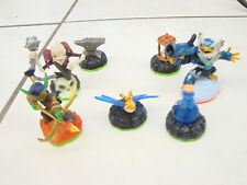 Skylanders Spyro's Adventure lot of 7 ghost Roaster Flame Slinger Sparx dragonfy