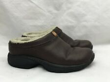 Merrell Shearling Natural Brown Leather Shoes Women's US 6 EUR 36 Air Cushion