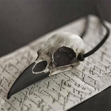 HANDMADE JEWELLERY Viking Vintage Punk Jewelry Crow Head Bird Skull Necklace Skull series accessories