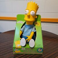 "Bart Simpson Dan Dee 18"" Vinyl Doll Figure Plush Vintage 1990 Collectible NIB"