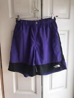 NEW VTG Boys The North Face Purple Shorts Windbreaker Colorblock Size XL