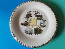 Vintage Souvenir Plate Alaska Wildlife Moose and Bears and Caribou Oh My!
