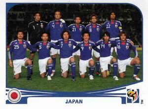 Panini Sticker Fußball WM 2010 Nr. 372 Japan Team Mannschaft Bild NEU Worldcup