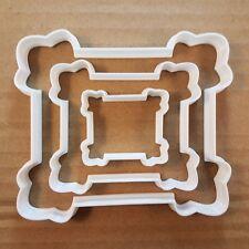 Plaque Document Frame Shape Cookie Cutter Dough Biscuit Pastry Fondant Sharp