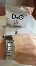 💗 D&G Dolce & Gabbana $600 Swarovski Crystals Silver Watch + Mimco Dust Bag