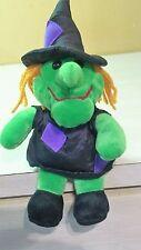 "Green Halloween Witch Plush Beanbag stuffed animal toy boys girls 10"""