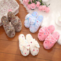 Women's Winter Warm Soft Bowknot Bedroom Slippers Shoes House Indoor Floor Shoes
