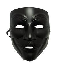 Black Guy Fawkes Anonymous V for Vendetta Halloween Costume Mask