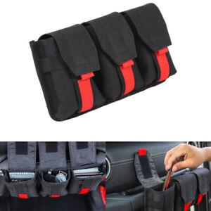Fits 2020 Jeep Gladiator Accessories Black Dashboard Co-pilot Handle Storage Bag