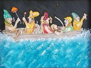 Ramon Carulla Journey Oil on Canvas 13X16 Original Painting Cuban Art