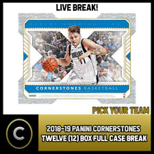 2018-19 PANINI CORNERSTONES BASKETBALL 12 BOX CASE BREAK #B359 - PICK YOUR TEAM