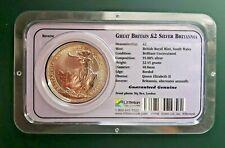 2000 Great Britain 1 oz Silver Britannia Coin 999 Fine Silver - Littleton Pack