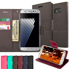 Slim Card Slot Kickstand Flip leather wallet Case Cover for Galaxy S9/iPhone /LG