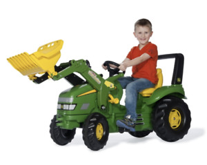 Kids Ride On Pedal X Trac Tractor With Loader, Rolly Toys John Deere for Kids