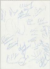 RUSSIA UEFA EURO 1996 SQUAD RARE  ORIGINAL HAND SIGNED SHEET 20 X SIGNATURES