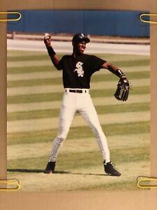 Michael Jordan Original Vintage Poster Chicago White Sox Baseball 1990's Pin Up
