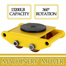 Heavy Duty Machine Dolly Skate Machinery Roller Mover Cargo Trolley 6/0.2 Ton US