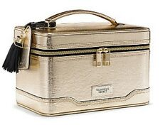 NWT! Victoria's Secret Hard Train Case Makeup Bag in LIZARD GOLD - LMTD EDITION