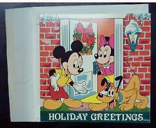 {BJSTAMPS} MICKEY Disney Holiday Greetings .999 SILVER Proof token Medallion
