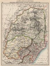 COLONIAL SOUTH AFRICA. Orange Free State Natal Basutoland SA Republic 1897 map