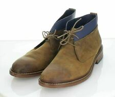 54-40 $250 Men's Sz 10 M Cole Haan Colton Leather Chukka Boot In Copper/Peacock