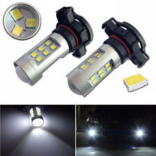 2pcs HID Pure White Power 5202 H16 21W 2538 Headlight Headlamp LED Bulbs New