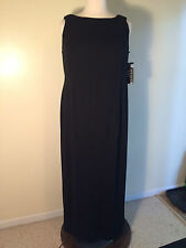 FAVIANA Women's Plus Size 24W Black Knit Back Drap Evening Cocktail Dress