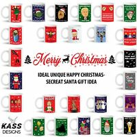 Personalised Mug Cup Merry Christmas Xmas Funny Novelty Secret Santa Gift 2019