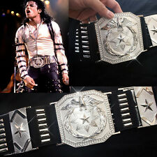 MJ  Classic BAD vocal concert Show Silver Alloy Punk Military US Army Eagle Larg