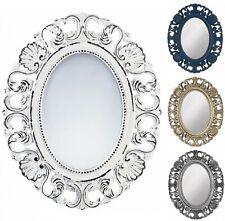 Oval Bathroom Mirror Whitewash Wall Decor Shabby Chic Bedroom Glam Vanity Gold