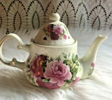 Formalities by Baum Brothers Victorian Rose Mini Teapot Gold Trim mini