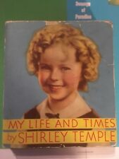 MY LIFE & TIMES BY SHIRLY TEMPLE  SOFTCOVER Saalfield Big Little Book 1596