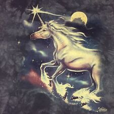 Unicorn XXL 2XLT Shirt Tye Dye Castle Rainbow Mythical Pegasus Sparkle Purple
