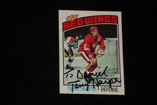 TERRY HARPER 1976-77 TOPPS SIGNED AUTOGRAPHED CARD #262 RED WINGS