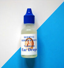 BERWITZ HOMEOPATHY EAR DROPS VERBASCUM / MULLEIN OIL - SOOTHES,CLEARS EAR WAX