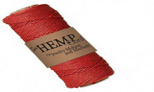 205FT Roll Of Red Natural Hemp Cord 1MM