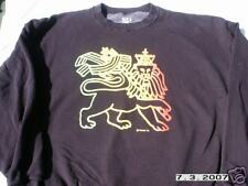 RASTA REGGAE BLACK LION OF JUDAH SWEATSHIRT SIZE XL