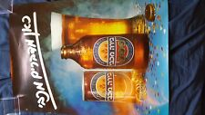 Maccabee Beer Lot of 2 Israeli Beer Promotional Advertising Posters