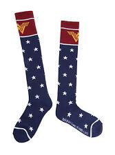 Wonder Woman Blue Stars Logo Costume Cosplay Knee High Socks DC Comics ONE PAIR