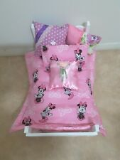 Dolls/Teddy Minnie Mouse 6 Piece Bedding Set Suit Beds or Prams up to 62cms