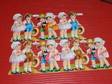 VINTAGE  CHILDS PAPER  CUT OUTS DIE CAST GERMANY