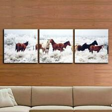 """24 in. x 72 in. """"Horses on Plains Printed Wall Art by  Furinno"""