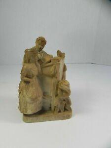 "John Rogers Group Statue Statuary ""The Favored Scholar"" 1941 Miniature"