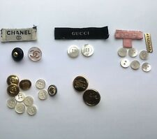 Lot Of Luxury Buttons, Chanel, Gucci, Versace