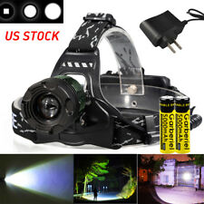 15000lm 3 X XML T6 LED 4-mode Rechargeable Headlamp Headlight Charger 18650 USA