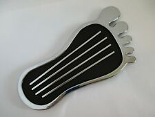 BAREFOOT GAS PEDAL COVER CHROME BARE FEET VINTAGE #8520