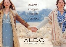 Couple Holding Hands Winter Scene Aldo Shoes Advertising Postcard Unused