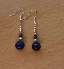 Lapis Lazuli Drop/Dangle Natural Not Enhanced Fine Earrings
